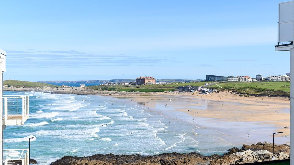 Start your holiday the right way by taking in the stunning views of Fistral from the balcony!