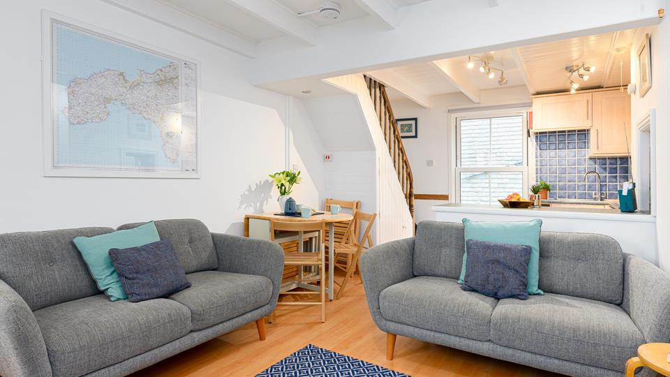 Sit back and relax in the open plan ground floor.