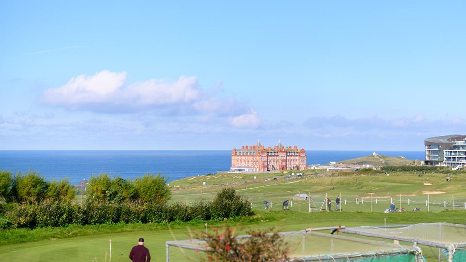 Newquay golf course is right on the doorstep for a round of golf with a view.