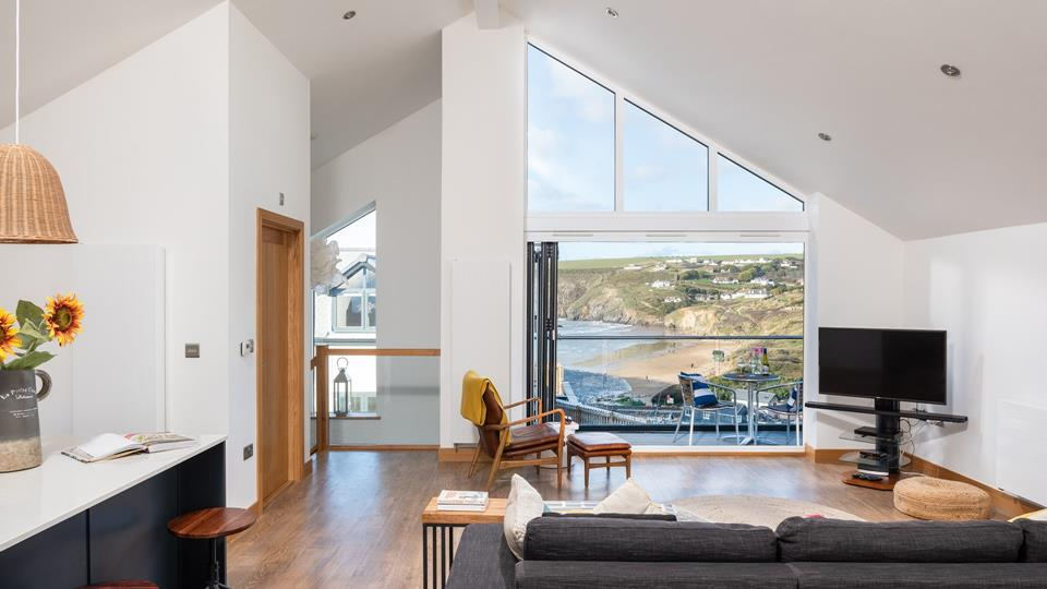 Reverse living at The Oyster Bed makes the most of the stunning views.