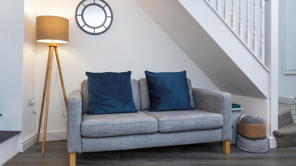 We love the stunning theme of greys, blues and teal colours flowing throughout the property.