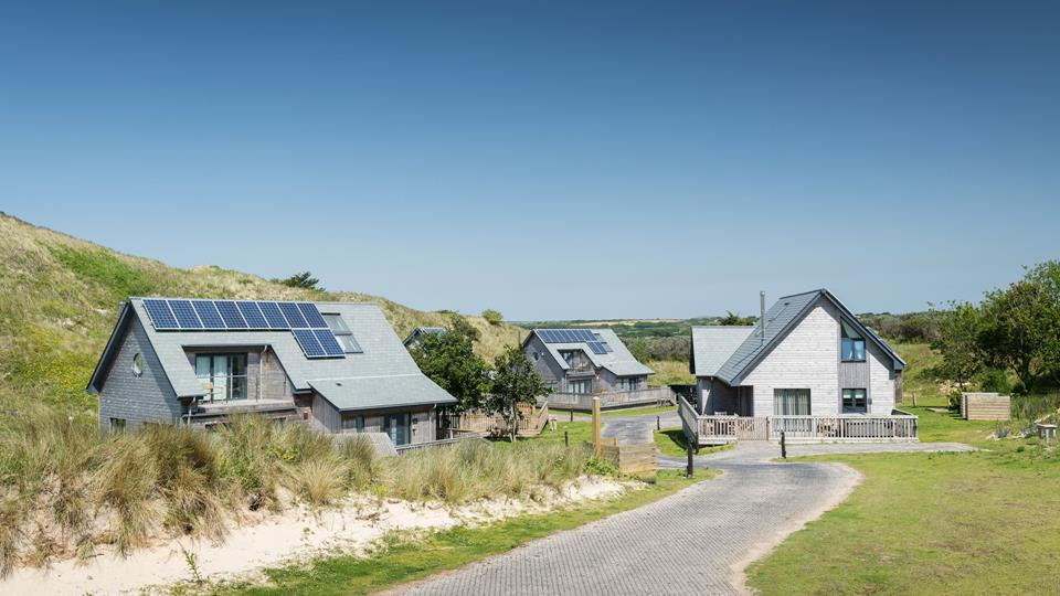 Fair Isle is one of eight beach lodges tucked into the sand dunes at Gwithian, Hayle.