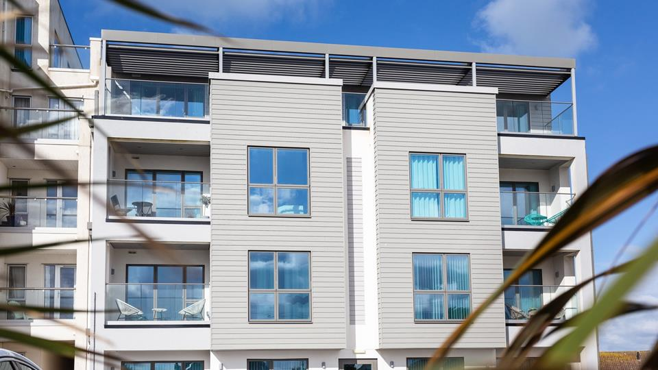 Saltwater Penthouse is on the third floor of this newly built apartment complex, in the highly sought after area.