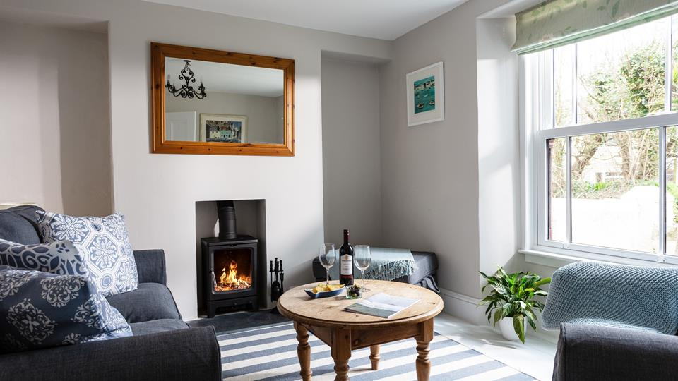 The snug at the front of the house, is a perfect space for enjoying some down time and peace and quiet.
