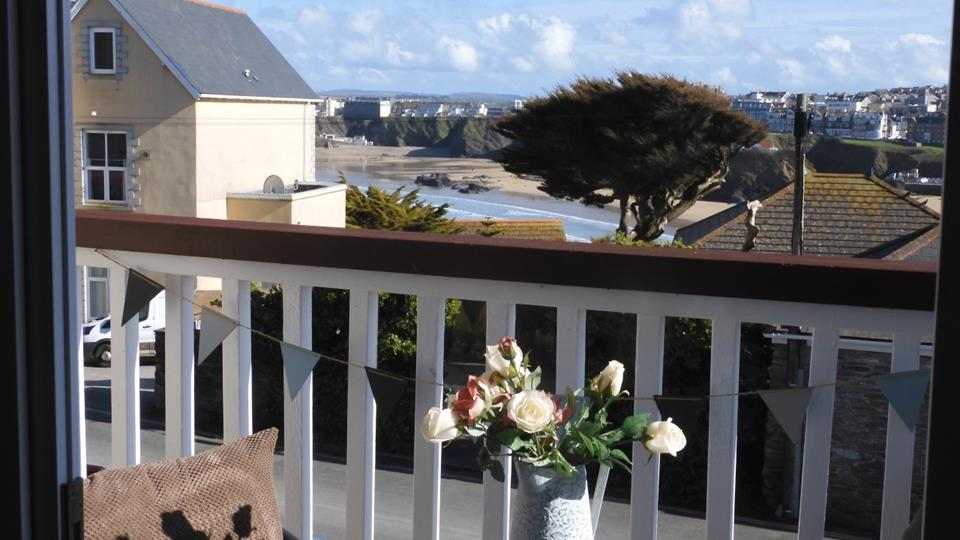 What better way to start the day than a cup of tea on the balcony, watching the waves in the distance.