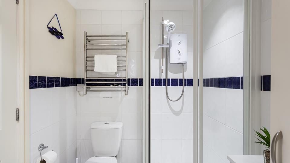 Though compact, the bathroom has been carefully laid out to maximize space.