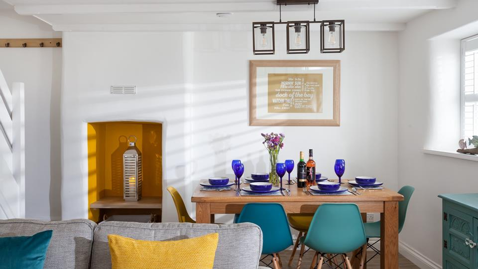 Gather at the family dining table and enjoy home-cooked meals and quality time together.