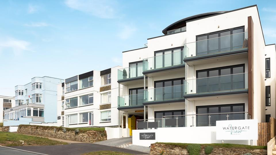 Watergate View is a new development, with an underpass that leads to the car park at the rear.