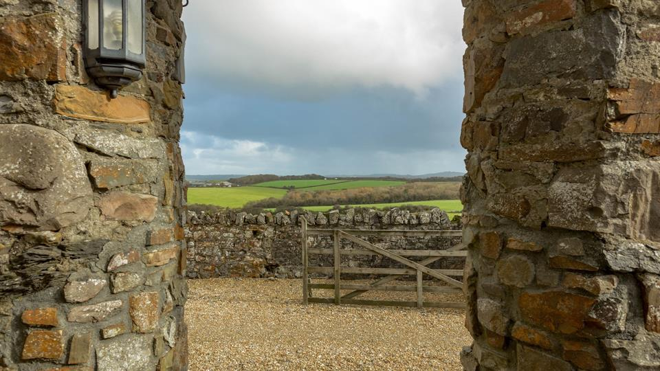 The views from the archway leading from the courtyard rose garden are simply breathtaking, you can see for miles!