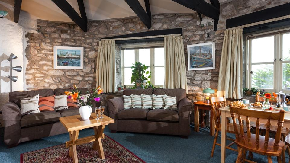 A fabulous bolthole, The Wheel House offers panoramic views over Mount's Bay.