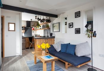 Stylish and full of character, the kitchen/diner/sitting room has been carefully designed to make the most of this special space.