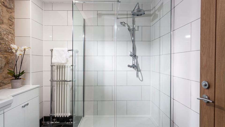 Fabulous, spacious ground floor shower room.