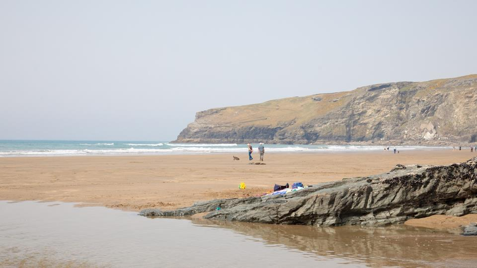 One of the many local beaches you will find whilst holidaying at Tregatta Cove.