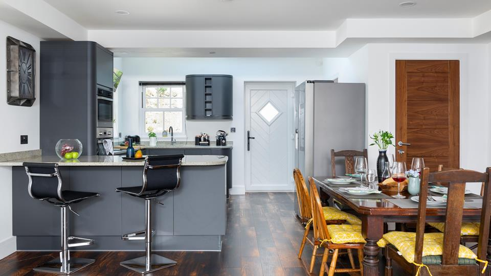 Stylish and spacious, the open plan kitchen/diner has been carefully designed for socialising and dining.