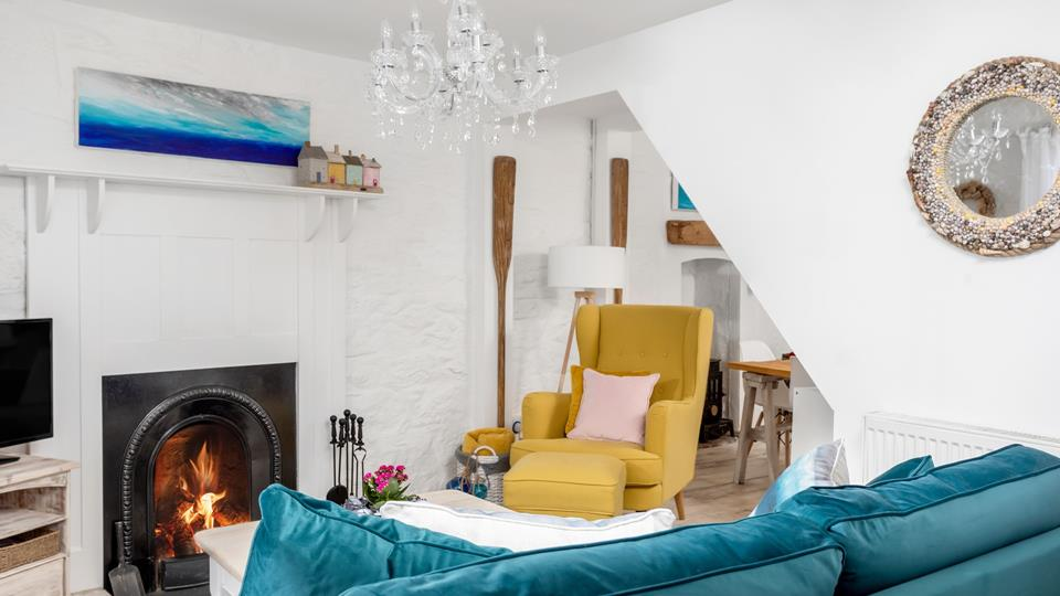 Cosy up in front of the open fire after a day exploring Falmouth.