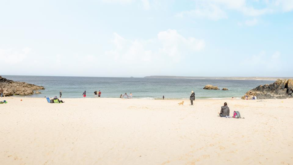Spend your days relaxing on Porthgwidden Beach, just in front of Beach Court.