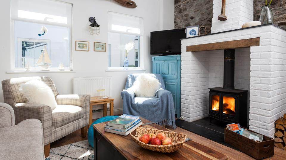 Cosy up in front of the woodburner with your favourite book and a glass of bubbly.