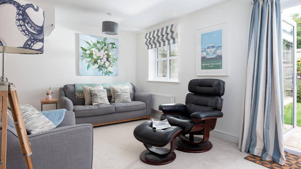 relax in the comfortable sitting room