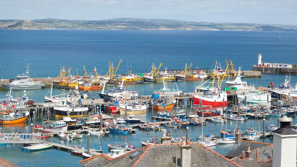 Never tire of the spectacular views of Newlyn Harbour and St Michael's Mount.