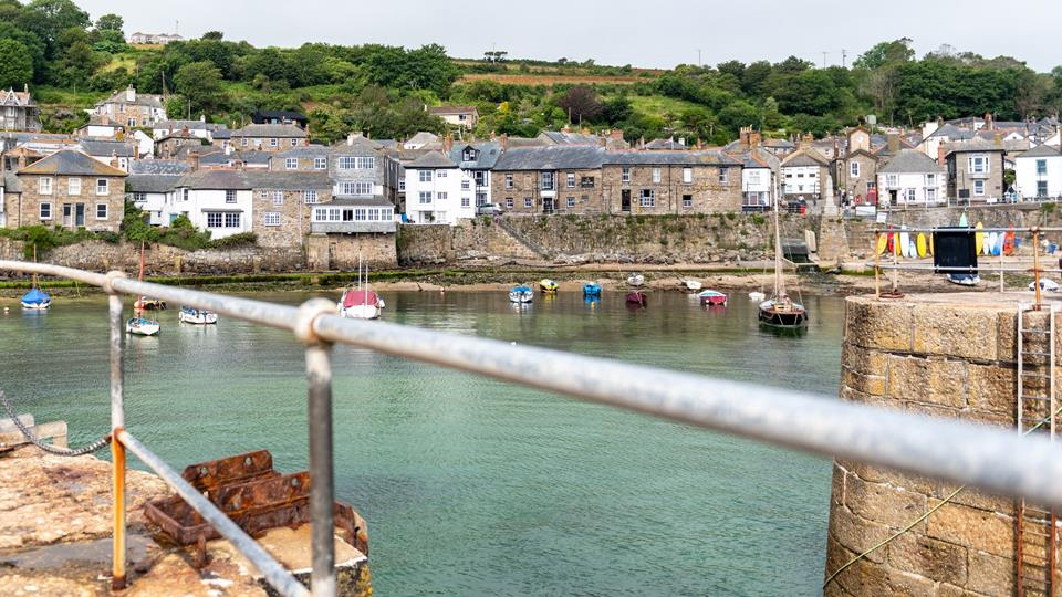 Lamorna in it's prominent position in the harbour.