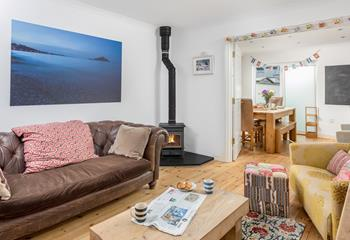 Tregever, Sleeps 7 + cot, St Ives Town.